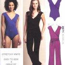 Kwik Sew Sewing Pattern 3671 Misses Size XS-XL (8-22) Leotard Unitard Dance Gymnastics