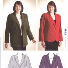 Kwik Sew Sewing Pattern 3822 M3822 Women's Plus Sizes 1X-4X Knit Button Front Unlined Classic Jacket