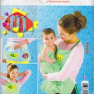 Kwik Sew Sewing Pattern 3993 Baby Bath Aprons Toy Holder