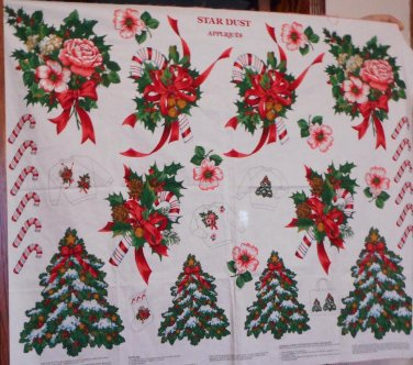 Star Dust Christmas Cotton Fabric Panel VIP Sweatshirts Stockings Décor