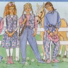 Butterick Sewing Pattern 4341 Girls Size 7-10 Easy Wardrobe Vest Top Skirt Pants Jumper Scarf