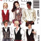 McCall's Sewing Pattern 4407 Misses Size 16 Easy Button Front Lined Vest Tuxedo V-Neck
