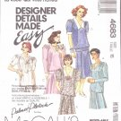 McCall's Sewing Pattern 4683 Misses Size 16 Palmer/Pletsch Two Piece Dress Skirt Top