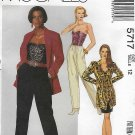 McCall's Sewing Pattern 5717 Misses Size 12 Wardrobe Jacket Bustier Skirt Pants