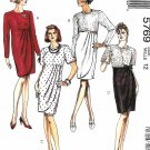 McCall's Sewing Pattern 5769 Misses Size 12 Easy Raised Waist Mock Wrap Skirt Dress