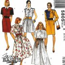 McCall's Sewing Pattern 5805 Misses Sizes 8-12 Fashion Basics Shirtwaist Dress Skirt Options