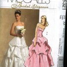McCall's Sewing Pattern 5321 Misses Size 6-12 Two Piece Top Bustier Skirt Wedding Bridal Gown