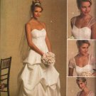 Butterick Sewing Pattern 5184 Misses Size 8-14 Strapless Detachable Sleeves Wedding Bridal Dress