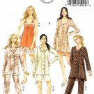 Butterick Sewing Pattern 5932 Misses Size 4-14 Easy Pajamas Nightgown Pants Short Camisole