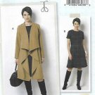 Butterick Sewing Pattern 6244 Womens Plus Size 18W-24W Coat Lined Fitted Dress