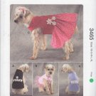 Kwik Sew Sewing Pattern 3465 Dog Shirts Dresses Sizes XS-XL
