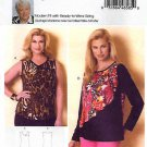 Butterick Sewing Pattern 6334 B6334 Women's Plus Size 18W-44W Easy Pullover Knit Top Connie Crawford