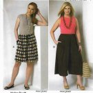 Butterick Sewing Pattern 6223 Women's Plus Size 18W-44W Culottes Split-Skirt Gauchos Connie Crawford