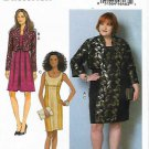 Butterick Sewing Pattern 6299 Womens Plus Size 18W-24W Easy Jacket Bolero Dress Pleated Skirt