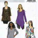 Butterick Sewing Pattern 6263 B6263 Womens Plus Size 18W-24W Easy Pullover Tunic Tops Sleeve Options