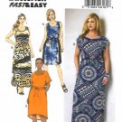 Butterick Sewing Pattern 6210 Womens Plus Size 18W-24W Easy Pullover Dress Sleeve Options