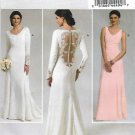 Butterick Sewing Pattern 5779 Misses Size 4-12 Cut-on Train Wedding Gown Bridesmaid Dress