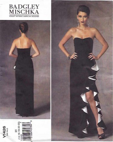 Vogue Sewing Pattern 1426 Misses Size 14-22 Badgley Mischka Strapless Evening Gown