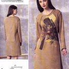 Vogue Sewing Pattern 1459 Misses Size 16-24 Easy Koos Van Den Akker Knit Applique Dress