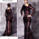 Vogue Sewing Pattern 1475 Misses Size 6-14 Badgley Mischka Cut-On Train Evening Wedding Gown