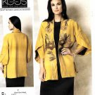 Vogue Sewing Pattern 1493 Misses Size 16-26 Koos Van Den Akker Unlined Appliqued Jacket