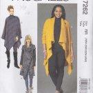 McCall's Sewing Pattern 7262 Womens Plus Sizes 18W-24W Easy Khaliah Ali Sweater Coat Poncho