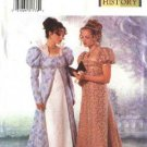 Butterick Sewing Pattern 6630 Misses Size 12-14-16 18th Century Costume Empire Waist Dress Coat