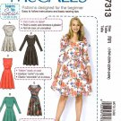 McCall's Sewing Pattern 7313 Womens Plus Sizes 18W-24W Easy Pullover Knit Dress Sleeve Options