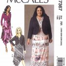 McCall's Sewing Pattern 7367 Womens Plus Sizes 18W-24W Khaliah Ali Dress Shrug Bolero