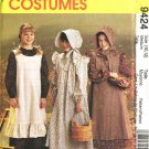 McCall's Sewing Pattern 7231 9424 Girls Size 10-12 Pioneer Costume Long Dress Apron Pinafore