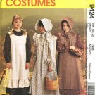 McCall's Sewing Pattern 7231 9424 Girls Size 7-8 Pioneer Costume Long Dress Apron Pinafore