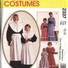 McCall's Sewing Pattern 7230 2337 Misses Size 16-18 Pilgrim Pioneer Prairie Costumes Dress Bonnet