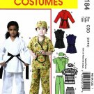 McCall's Sewing Pattern 6184 Boys Girls Size 2-5 Easy Costumes Karate Prisoner Scrub Uniform