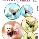 Kwik Sew Sewing Pattern 4152 Dog Clothes Shirts Tops Dresses Sizes XS-XL