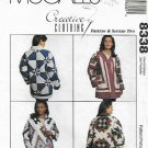 McCall's Sewing Pattern 8338 Misses Size 6-26 Creative Clothing Patchwork Quilt Jacket