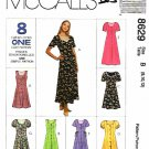 McCall's Sewing Pattern 8629 Misses Sizes 8-12 Easy Button Front Princess Seam Dress