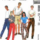 "McCall's Sewing Pattern 8855 Men's and Misses Size Small Hip 33 1/2 - 34 1/2"" Cargo Pants Shorts"
