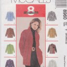 McCall's Sewing Pattern 8960 Misses Sizes 8-18 Easy Classic Button Front Long Sleeve Shirts