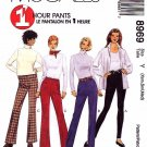 McCall's Sewing Pattern 8969 Misses Sizes 4-14 1 Hour Knit Stretch Woven Pants Leggings