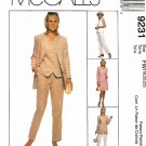 McCall's Sewing Pattern 9231 Misses Sizes 18-22 Wardrobe Pants Skirt Jacket Vest