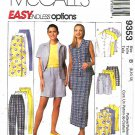 McCall's Sewing Pattern 9353 Misses Sizes 8-12 Easy Wardrobe Pants Wrap Skirt Shorts Shirt