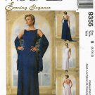 McCall's Sewing Pattern 9355 Misses Size 8-12 Evening Elegance Formal Lined Dress Scarf