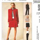 McCall's Sewing Pattern 9378 Misses Sizes 6-10  Wardrobe Pants Skirt Button Front Jacket