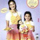 """Kwik Sew Sewing Pattern 0172 K172 Adult Children Sizes S-L Mom Girl 18"""" Doll Aprons"""