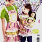 "Kwik Sew Sewing Pattern 0136 K136 Adult Children Sizes S-L Mom Girl 18"" Doll Aprons"