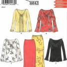New Look Sewing Pattern 6042 Misses Size 8-18 Long Skirt Peasant Style Pullover Top