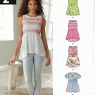 New Look Sewing Pattern 6286 A6286 Misses Size 4-16 Summer Pullover Tops Sleeve Options