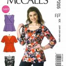 McCall's Sewing Pattern 7205 Women's Plus Size 26W-32W Easy Tops Sleeve Options