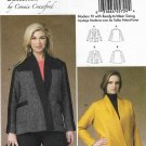 Butterick Sewing Pattern 6110 Womens Plus Size 18W-44W Easy Connie Crawford Wrap-Front Jackets