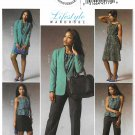 Butterick Sewing Pattern 5965 Misses Size 8-16 Easy Lifestyle Wardrobe Jacket Dress Skirt Pants